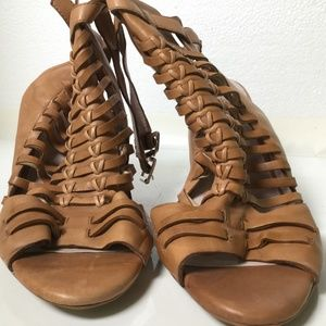Vince Camuto Shoes - Brown Peep Toe Vince Camuto Booties
